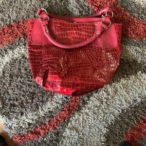 Red Snake Skin Designer Bag